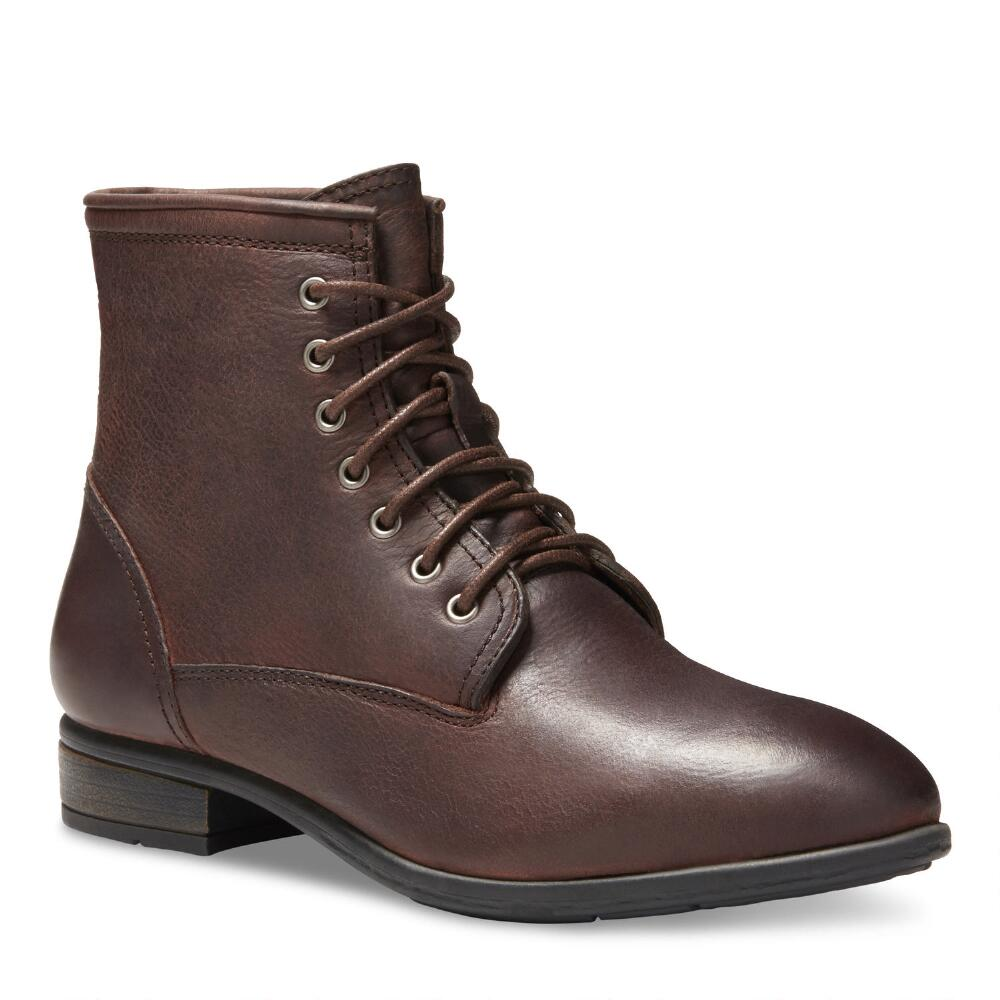 2017 Neutral Eastland Juliana Lace Up Boot Walnut Leather
