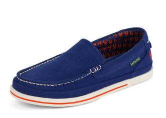 Men's Sheffield MLB New York Mets Canvas Slip On