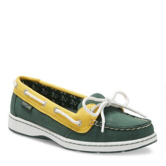 Women's Sunset MLB Oakland Athletics Canvas Boat Shoe