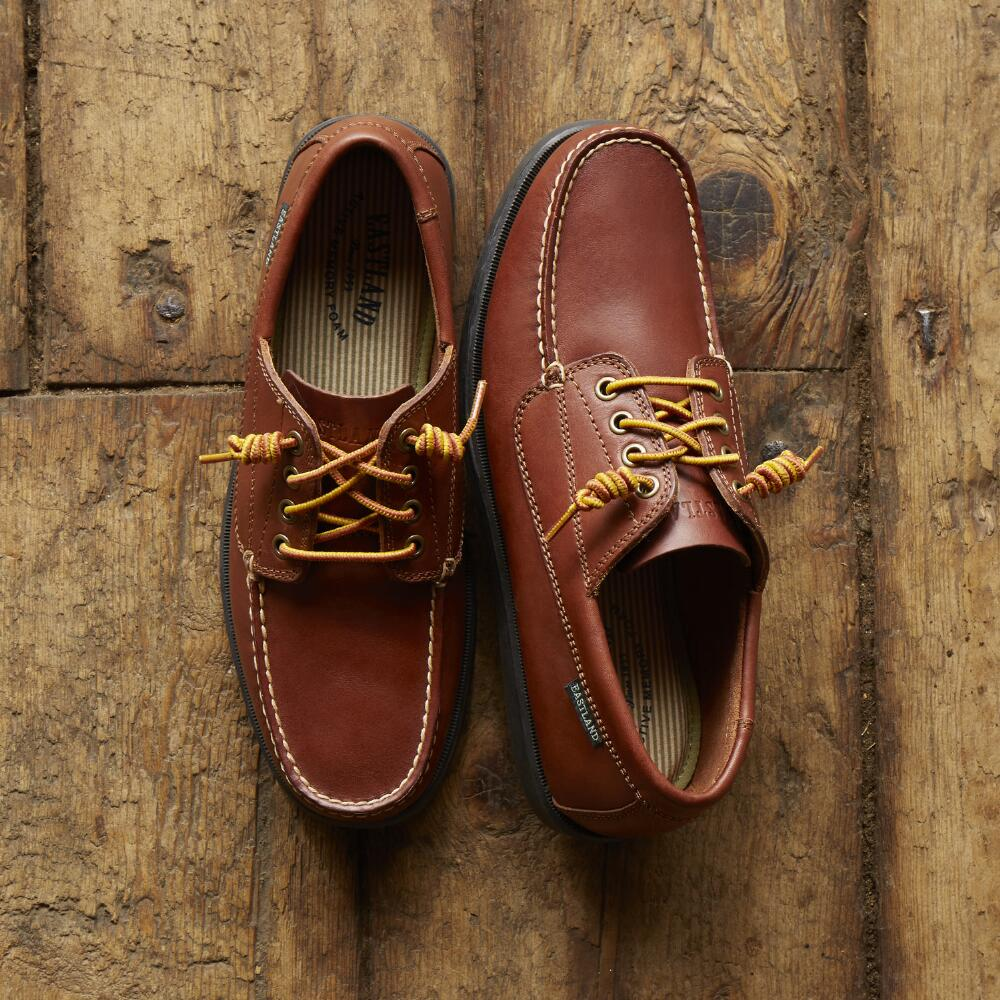 Mens Camp Moc Oxfords Falmouth D Island Shoes Slip On Mocasine Casual Brown Large Outside Sole Overhead Pair Ls