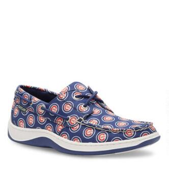 Men's Summer MLB Chicago Cubs Canvas Boat Shoe
