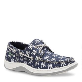 Men's Summer MLB New York Yankees Canvas Boat Shoe