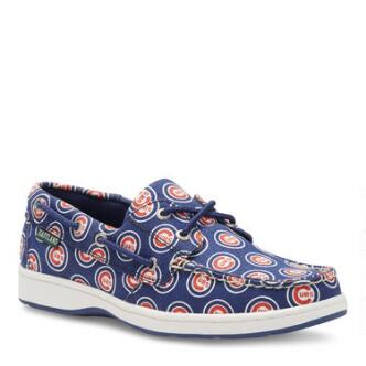 Women's Summer MLB Chicago Cubs Canvas Boat Shoe