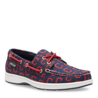 Women's Summer MLB Cleveland Indians Canvas Boat Shoe