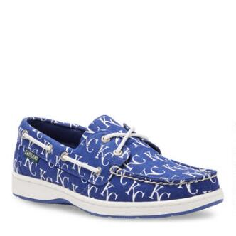 Women's Summer MLB Kansas City Royals Canvas Boat Shoe