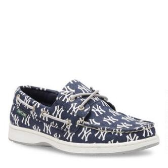 Women's Summer MLB New York Yankees Canvas Boat Shoe