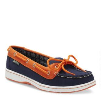 Women's Sunset MLB Detroit Tigers Canvas Boat Shoe